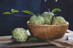 Świezi Custard jabłka fotografia stock