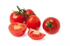 Świezi czereśniowi pomidory Zdjęcia Royalty Free