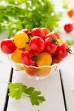 Świezi czereśniowi pomidory Obrazy Royalty Free