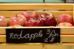 Świezi czerwoni jabłka Zdjęcie Royalty Free