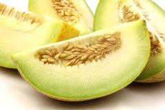 świezi galia melonu kawałki zdjęcia stock