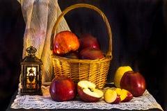 Świezi jabłka koszykowi Zdjęcie Stock