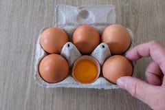 Świezi jajka od lokalnej produkcji fotografia royalty free