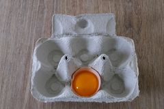 Świezi jajka od lokalnej produkcji obraz stock