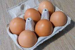 Świezi jajka od lokalnej produkcji obraz royalty free