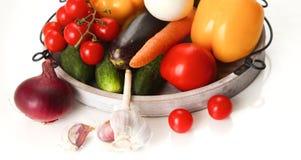 Świezi jesieni warzywa na białym tle Obrazy Stock