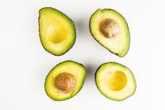 Świezi kawałki Avocados Fotografia Royalty Free
