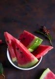 Świezi melonów kawałki Zdjęcia Royalty Free