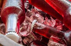 Świezi napoje z lodowym zbliżeniem Fotografia Royalty Free