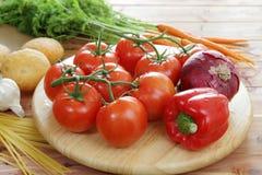 Świezi organicznie warzywa Fotografia Royalty Free
