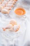 Świezi piec madeleines ciastka Zdjęcia Royalty Free
