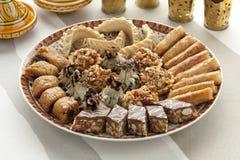 Świezi piec Marokańscy ciastka Fotografia Stock
