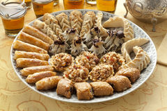 Świezi piec Marokańscy ciastka Zdjęcie Royalty Free