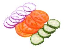 świezi pokrojeni warzywa zdjęcie stock