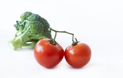 Świezi pomidory i brokuły obraz stock