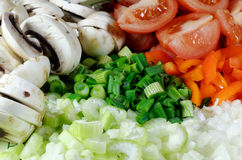 Świezi Przygotowywający warzywa Fotografia Royalty Free