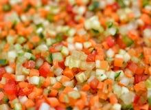 Świezi rżnięci warzywa Obrazy Royalty Free
