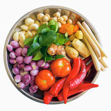 Świezi składniki dla Gotować curry'ego Fotografia Stock