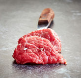 Świezi surowego mięsa cięcia Obraz Royalty Free