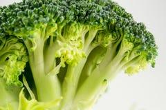 Świezi surowi brokuły odizolowywający na białym tle Zdjęcia Royalty Free