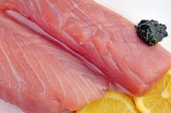 Świezi Surowi tuńczyków stki Fotografia Royalty Free