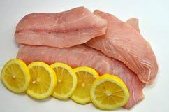 Świezi Surowi tuńczyków stki Fotografia Stock