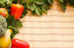 Świezi warzywa dla obramiać Fotografia Stock
