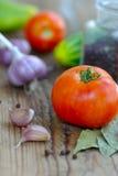 Świezi warzywa dla sałatki i konserwowanie fotografia royalty free