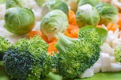 Świezi warzywa dla sałatki lub polewki zdjęcie royalty free