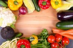 Świezi warzywa, jesieni tło target1220_1_ ramowy zdrowego Obraz Stock