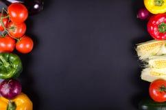 Świezi warzywa, jesieni tło target1220_1_ ramowy zdrowego Fotografia Stock