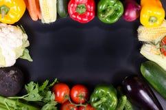 Świezi warzywa, jesieni tło target1220_1_ ramowy zdrowego Obrazy Royalty Free