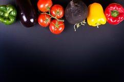 Świezi warzywa, jesieni tło target1220_1_ ramowy zdrowego Zdjęcie Royalty Free