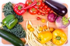 Świezi warzywa, jesieni tło Zdrowy łasowania tło Obrazy Stock
