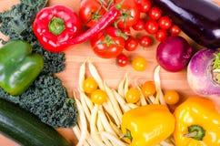 Świezi warzywa, jesieni tło Zdrowy łasowania tło Obraz Stock