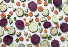 Świezi warzywa lub jarzynowy tło zdjęcia royalty free