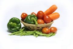 Świezi warzywa na białym tle Obraz Royalty Free