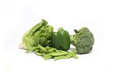 Świezi warzywa na białym tle Zdjęcia Stock