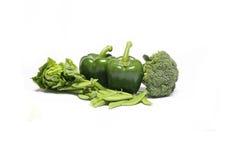 Świezi warzywa na białym tle Fotografia Royalty Free