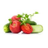 Świezi warzywa, odizolowywający Zdjęcia Stock