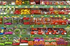 Świezi warzywa przy supermarketem Obrazy Royalty Free