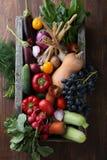 Świezi warzywa w drewnianej skrzynce fotografia royalty free