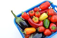 Świezi warzywa w pudełku Obrazy Stock
