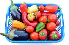 Świezi warzywa w pudełku Zdjęcia Stock