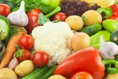 Świezi Zdrowi warzywa/Karmowy tło Zdjęcia Stock