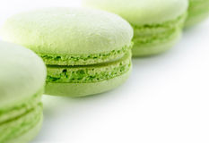 Świezi zieleni macarons Zdjęcia Stock
