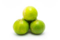Świezi zieleni wapno na białym tle Zdjęcia Stock