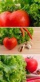 świezi zielonej sałatki pomidory Zdjęcie Royalty Free