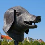 Świni głowa w ogródzie belwederu pałac, Wiedeń Zdjęcie Stock