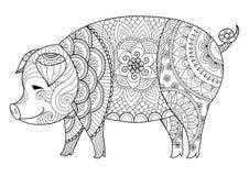 świnia royalty ilustracja
